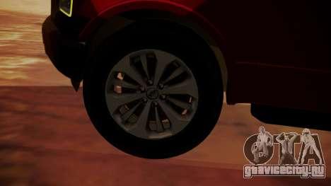 Ford F-150 2015 Stock для GTA San Andreas вид сзади слева