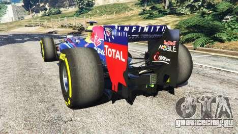 Red Bull RB8 [Себастьян Феттель] для GTA 5 вид сзади слева