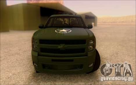 Chevrolet Silverado 2500 Best Edition для GTA San Andreas вид сзади