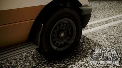 GTA 5 Brute Ambulance IVF для GTA San Andreas вид сзади слева