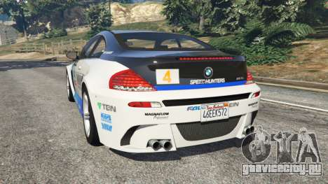 BMW M6 (E63) WideBody v0.1 [Volk Racing Wheel] для GTA 5 вид сзади слева