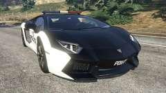 Lamborghini Aventador LP700-4 Police v4.0 для GTA 5