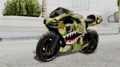 Bati Motorcycle Camo Shark Mouth Edition для GTA San Andreas