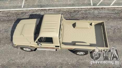 Toyota Land Cruiser LX Pickup 2016 для GTA 5 вид сзади