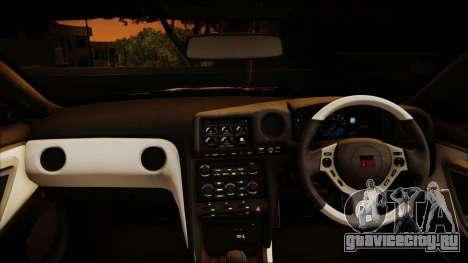 Nissan GT-R Nismo 2015 Itasha Paintjobs для GTA San Andreas вид изнутри