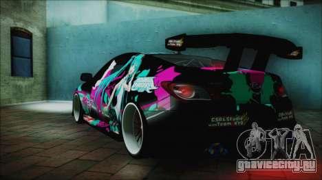 Hyundai Genesis Coupe Hatsune Miku Itasha PJ для GTA San Andreas вид слева