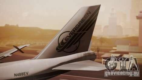 Boeing 747-200 Evergreen International Airlines для GTA San Andreas вид сзади слева