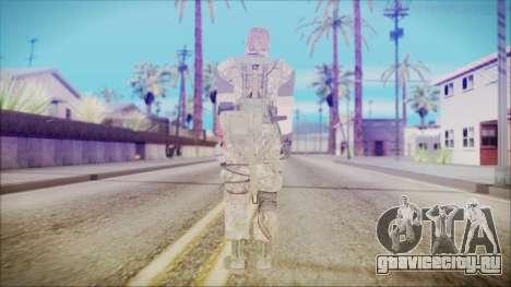 MGSV Phantom Pain Snake Normal Woodland для GTA San Andreas третий скриншот