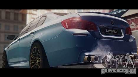 BMW M5 F10 Stock Single для GTA San Andreas вид сзади слева