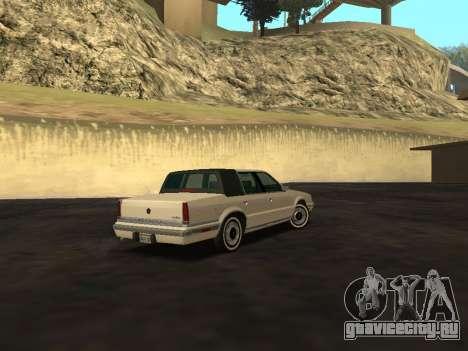 Chrysler New Yorker 1988 для GTA San Andreas вид сзади
