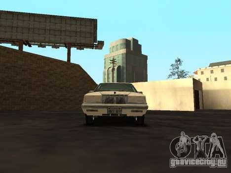 Chrysler New Yorker 1988 для GTA San Andreas вид изнутри