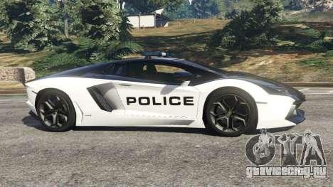 Lamborghini Aventador LP700-4 Police v5.5 для GTA 5 вид слева