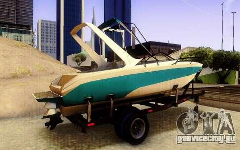 GTA V Boat Trailer для GTA San Andreas вид сзади слева
