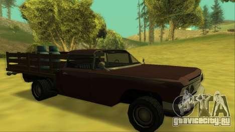 Voodoo El Camino v2 (Truck) для GTA San Andreas колёса
