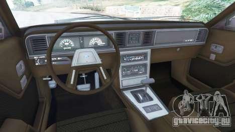 Ford LTD LX 1985 для GTA 5 вид справа