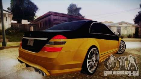 Carlsson Aigner CK65 RS v2 для GTA San Andreas вид слева