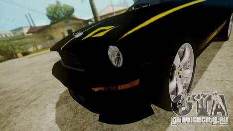 Ford Mustang Shelby Terlingua для GTA San Andreas вид сзади