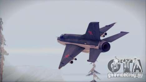 MIG-21MF URSS для GTA San Andreas вид слева