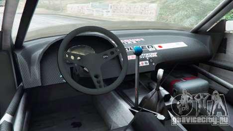 Nissan Silvia S13 v1.2 [without livery] для GTA 5 вид сзади справа