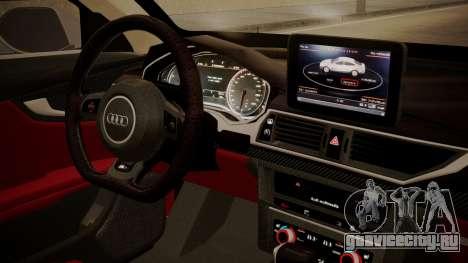 Audi RS7 X-UK L3D для GTA San Andreas вид справа