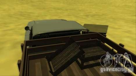 Voodoo El Camino v2 (Truck) для GTA San Andreas салон