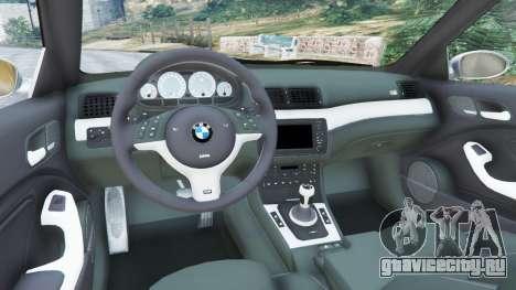 BMW M3 (E46) для GTA 5 вид сзади справа