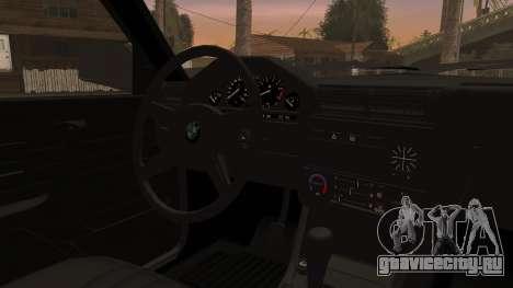BMW M3 E30 Sedan для GTA San Andreas вид сзади