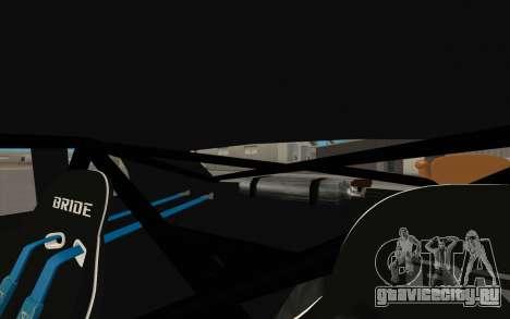 Elegy DRIFT KING GT-1 (Stok wheels) для GTA San Andreas салон