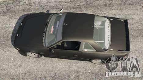 Nissan Silvia S13 v1.2 [without livery] для GTA 5 вид сзади