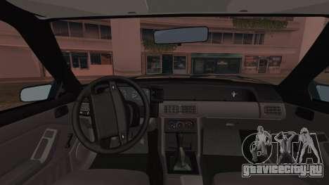Ford Mustang Hatchback 1991 v1.2 для GTA San Andreas вид сзади слева