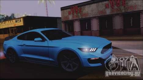 Ford Mustang Shelby GT350R 2016 No Stripe для GTA San Andreas вид сзади
