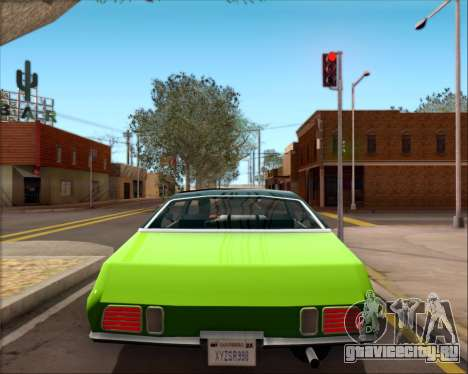 Clover Barracuda для GTA San Andreas вид изнутри