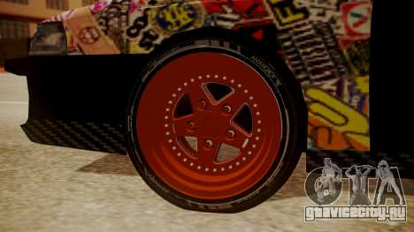 Sultan Full of Stickers для GTA San Andreas вид сзади слева