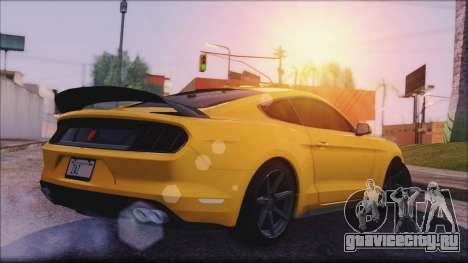 Ford Mustang Shelby GT350R 2016 No Stripe для GTA San Andreas вид сзади слева