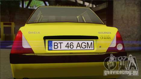 Dacia Solenza Taxi для GTA San Andreas вид сзади