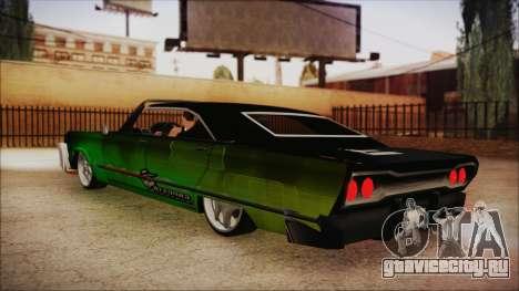 Savanna Ganstar Lowrider для GTA San Andreas вид слева