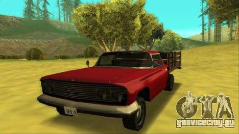 Voodoo El Camino v2 (Truck) для GTA San Andreas вид слева
