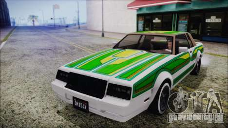 GTA 5 Willard Faction Custom для GTA San Andreas вид изнутри