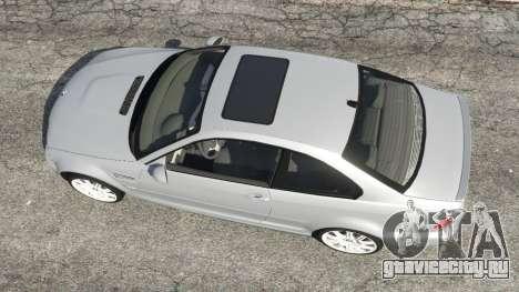 BMW M3 (E46) для GTA 5 вид сзади
