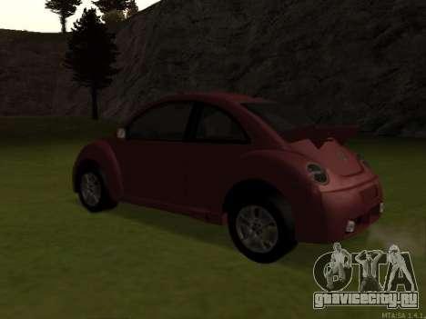 VW New Beetle 2004 Tunable для GTA San Andreas вид сзади слева
