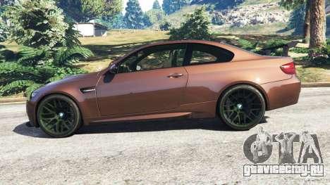 BMW M3 (E92) GTS v0.1 для GTA 5 вид слева