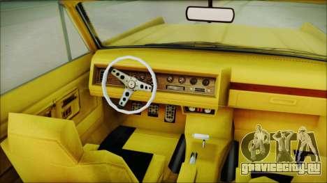 GTA 5 Vapid Chino Bobble Version для GTA San Andreas вид справа