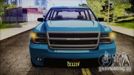 GTA 5 Declasse Granger FIB SUV IVF для GTA San Andreas вид справа