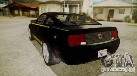 Ford Mustang Shelby Terlingua для GTA San Andreas вид слева