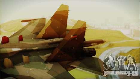 SU-27 Flanker A Philippine Air Force для GTA San Andreas вид сзади слева