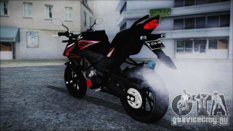 Honda CB150R Black для GTA San Andreas вид слева