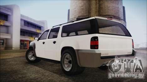 GTA 5 Declasse Granger Civilian IVF для GTA San Andreas вид сзади слева