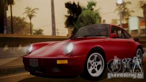 RUF CTR Yellowbird (911) 1987 IVF АПП для GTA San Andreas вид сзади слева