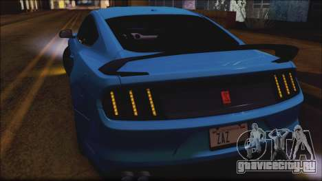 Ford Mustang Shelby GT350R 2016 No Stripe для GTA San Andreas вид сверху
