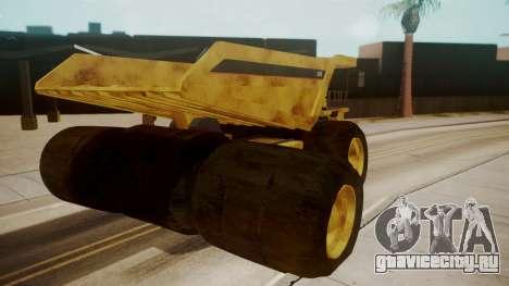 Dump Truck для GTA San Andreas вид сзади слева